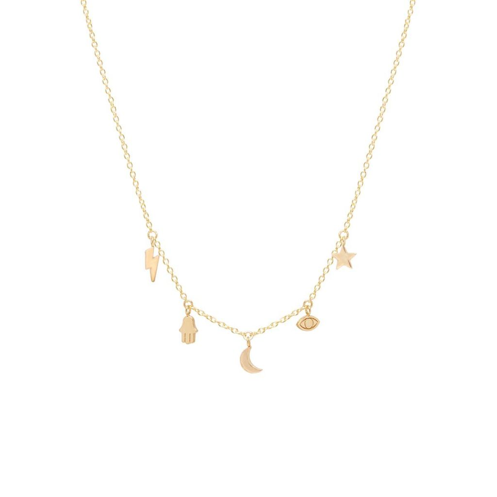 ZOE CHICCO ZOE CHICCO 14K ITTY BITTY GOOD LUCK CHARM NECKLACE
