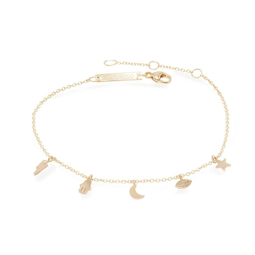 Zoe Chicco Itty Bitty Good Luck Charm Bracelet