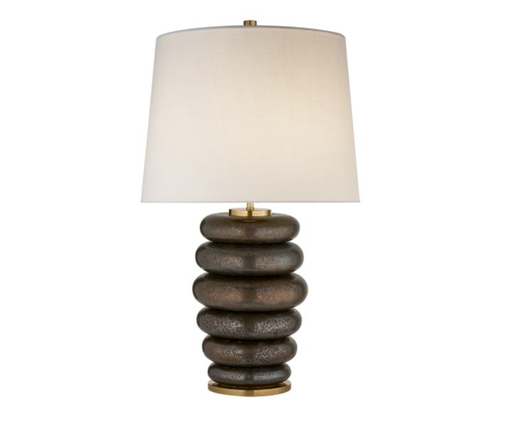 VISUAL COMFORT KELLY WEARSTLER PHOEBE STACKED BRONZE LAMP