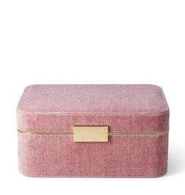 AERIN BEAUVAIS VELVET BOX IN DUSTY ROSE