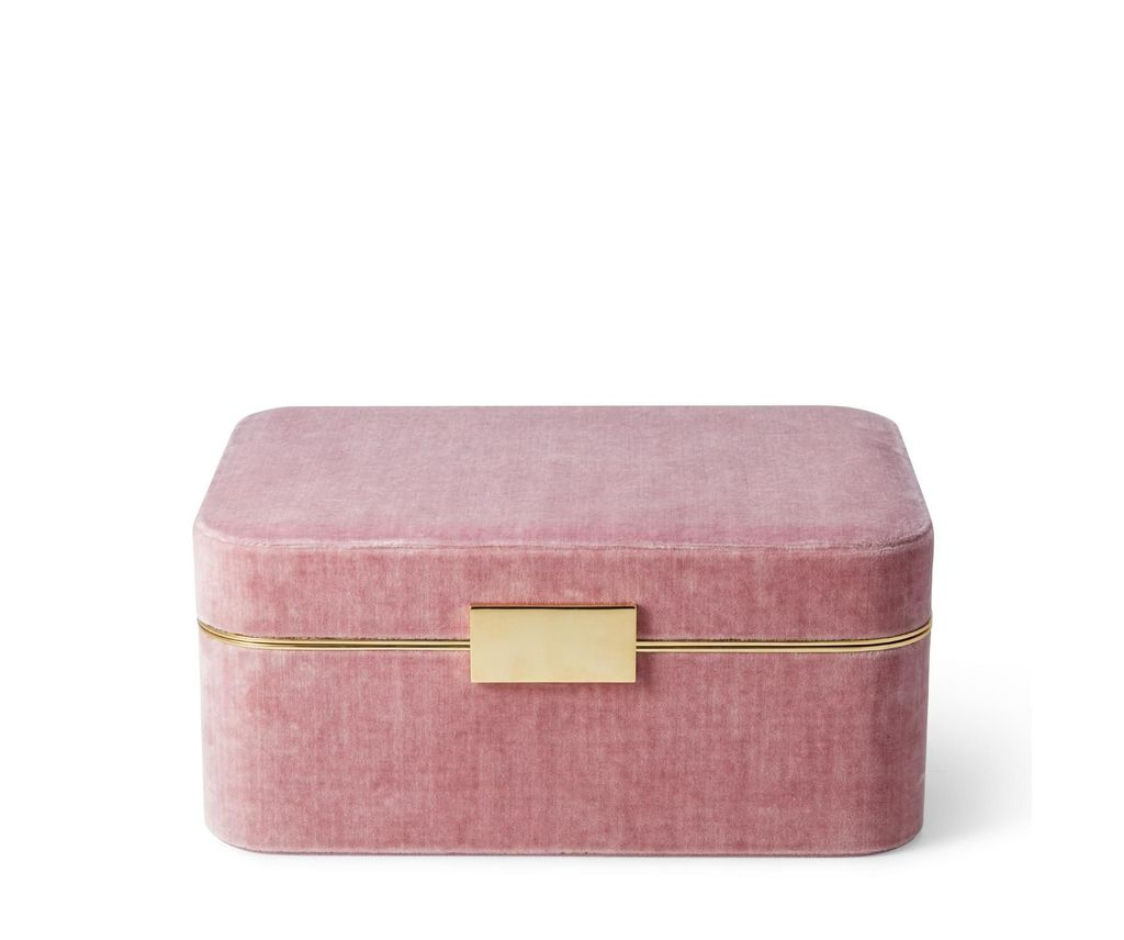 AERIN VELVET DUSTY ROSE JEWELRY BOX
