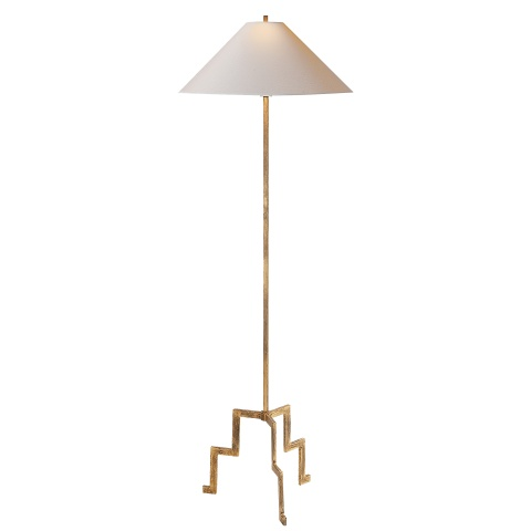 VISUAL COMFORT LANCASTER GILDED IRON FLOOR LAMP