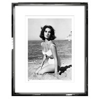 TROWBRIDGE ELIZABETH TAYLOR PHOTOGRAPH