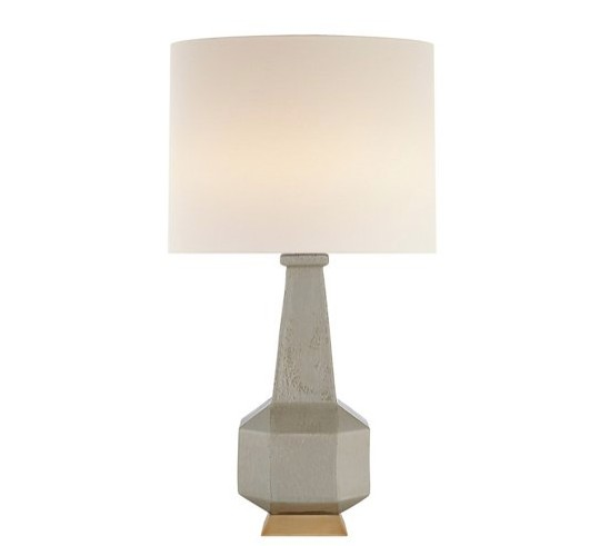 VISUAL COMFORT AERIN BABETTE TABLE LAMP IN SHELLISH GREY