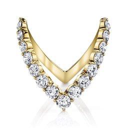 ANITA KO ANITA KO 18K ROUND DIAMOND V RING 6.5