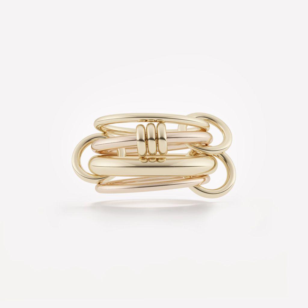 SPINELLI KILCOLLIN SPINELLI KILCOLLIN 18K YELLOW & ROSE GOLD ARIES RING 6.5