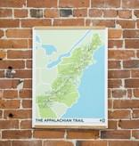 "Brainstorm Print and Design Appalachian Trail Screen print 18"" x 24"""