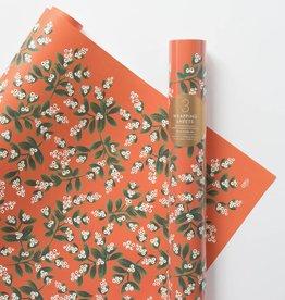 Rifle Paper Co. RPWPROHO - Mistletoe wrap roll (3 19.5x27 Inch sheets)