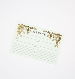Rifle Paper Co. Gold Floral Recipe Cards