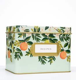 Rifle Paper Co. Citrus Floral Recipe Tin