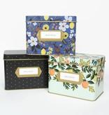Rifle Paper Co. Citrus Floral Recipe Tin