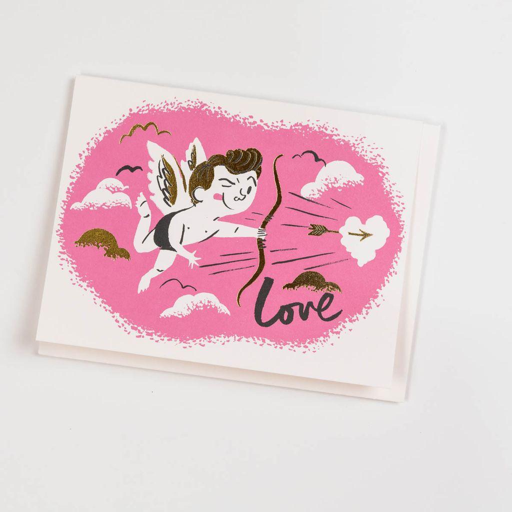 Red Cap Cards Cupid Card