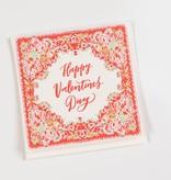 Antiquaria Happy Valentines Handkerchief Card