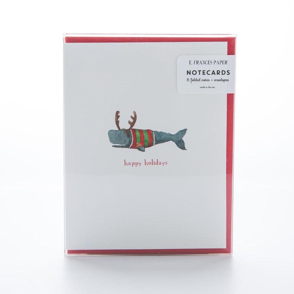 E. Frances Paper Studio EFNSHO0004 - Christmas Whale , Set of 6