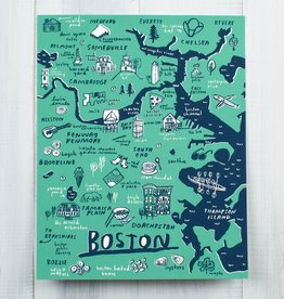 People I've Loved Boston Area Map Art Print