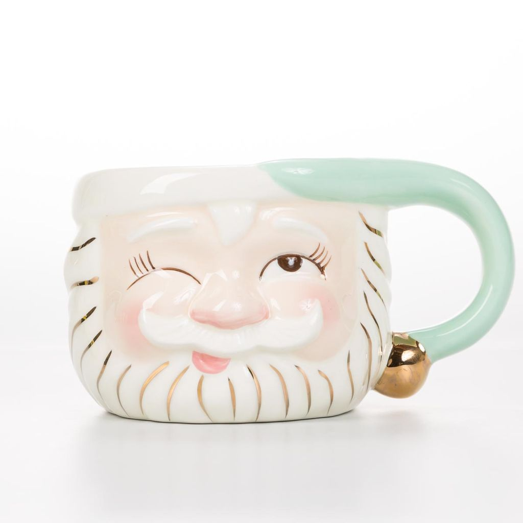 One Hundred 80 Degrees Mint Santa Mug