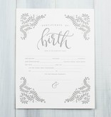 Printable Wisdom Fill- In Birth Certificate Art Print