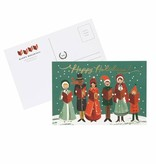 Rifle Paper Co. Carolers Christmas Postcard Set of 10
