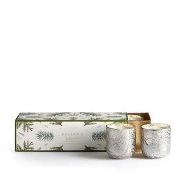 illume candles Balsam + Cedar Mercury Glass Votive  Set