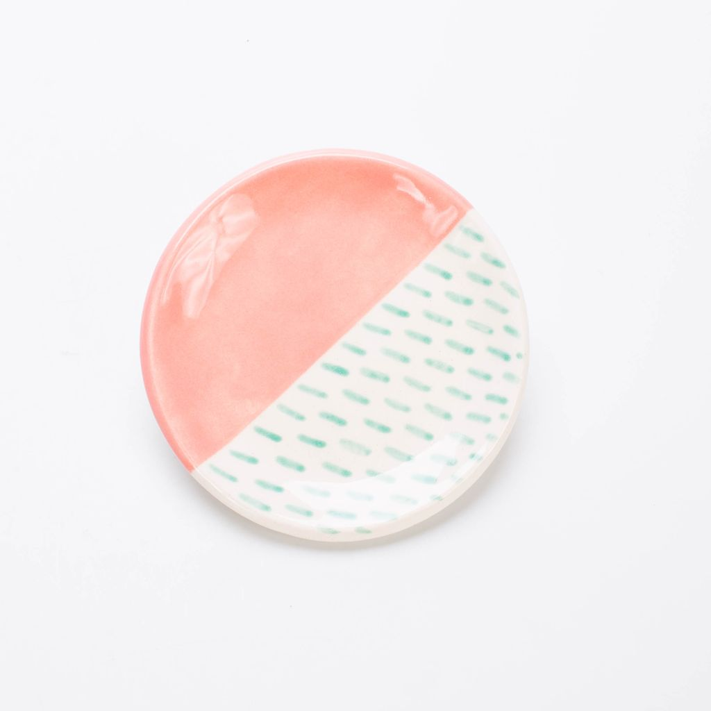 Quiet Clementine Peach + Jade Ring Dish