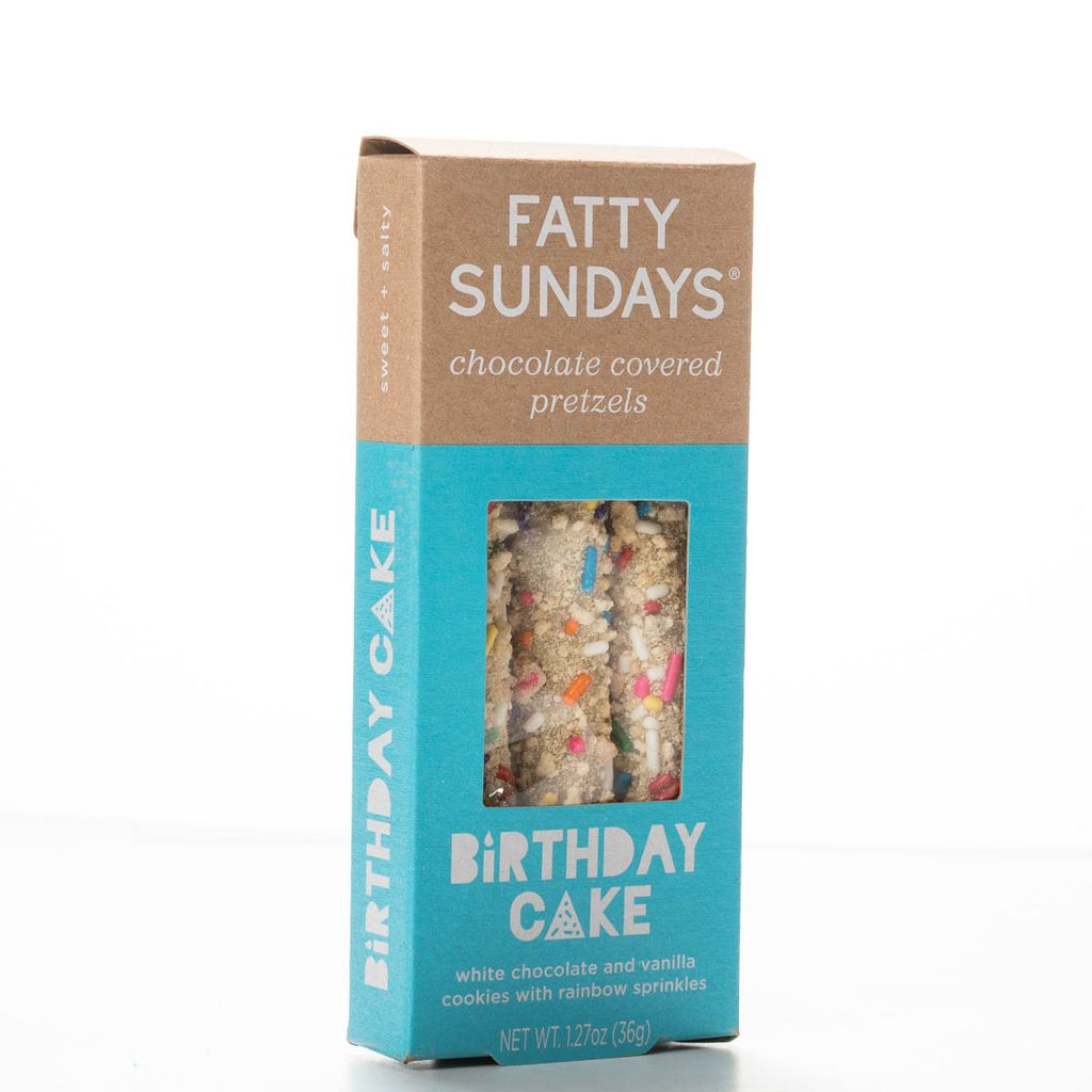 Fatty Sundays FS FAD - Birthday Cake Covered Pretzels