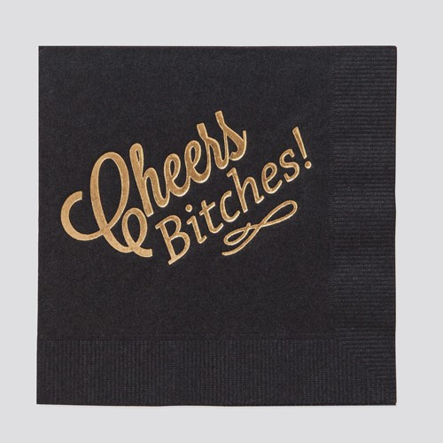 farewell paperie FWP PS - Cheers Bitches Set of 20 napkins