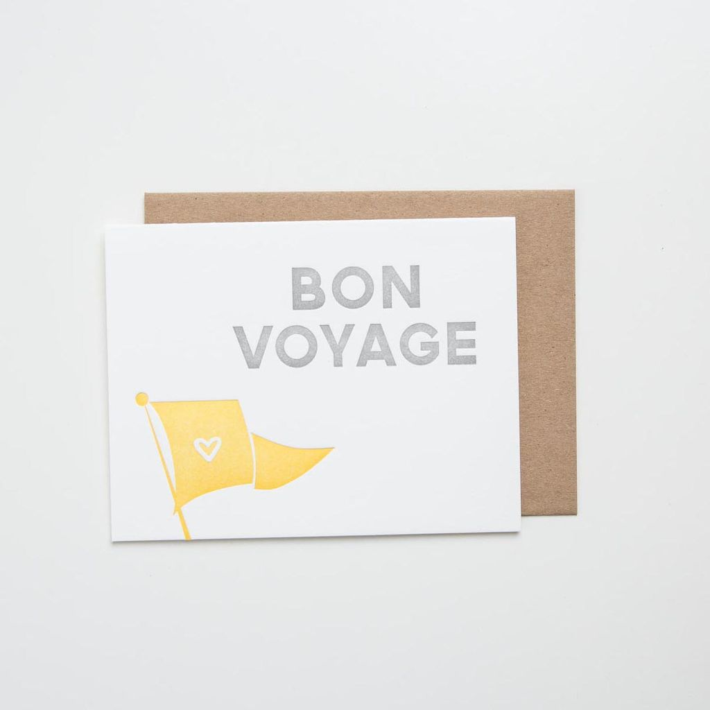 Alee and Press Bon Voyage Card