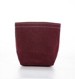 Casey D Sibley Art + Design Maroon Waxed Canvas Bucket