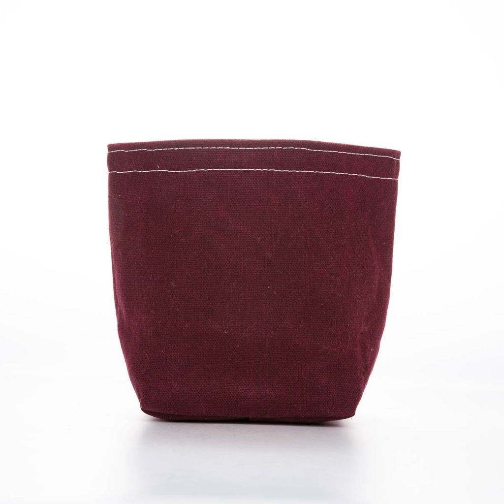 Casey D Sibley Art + Design CDS ST - Maroon Small Canvas Bucket