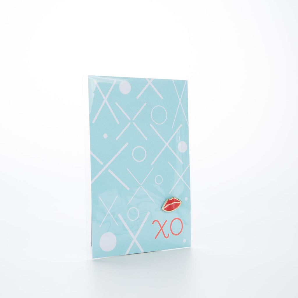The Good Twin Red Lips Enamel Pin + Postcard