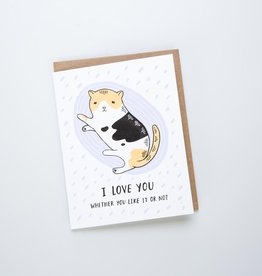 Lucky Horse Press I Love You Cat Card