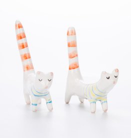 Barruntando Long Tail Cat Ceramic Miniature