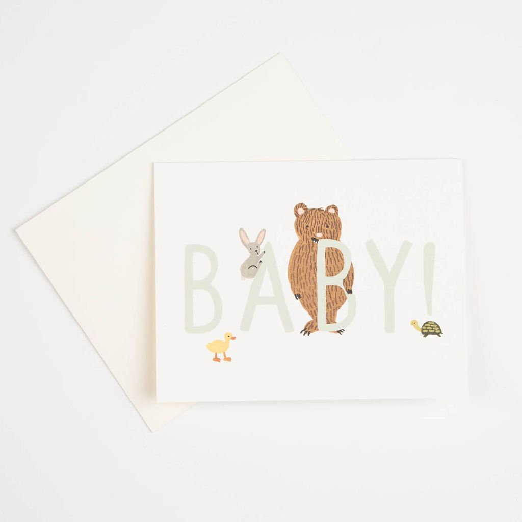 Rifle Paper Co. Mint Baby Card