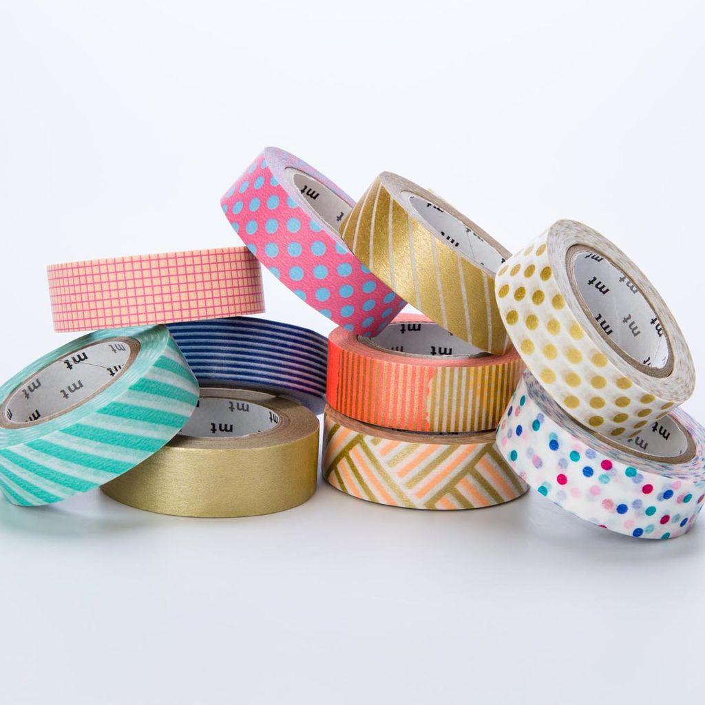 Sweet Bella LLC SWB OS - 1 meter roll washi tape, stripe gold