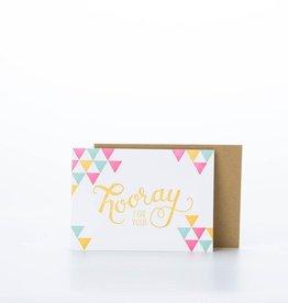 Parrott Design Studio Hooray Card