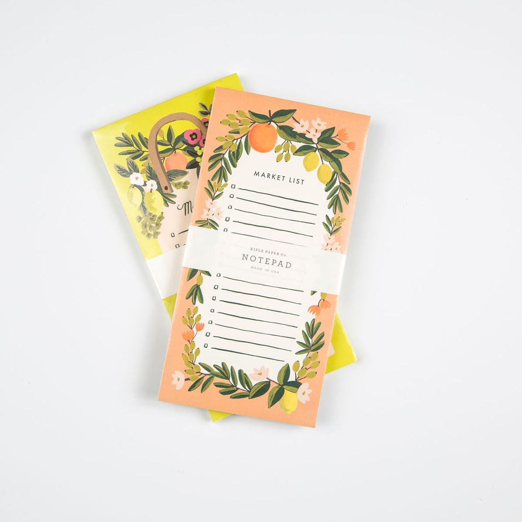 Rifle Paper Co. Coral Citrus Floral Market List