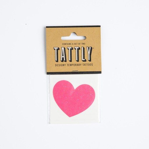 tattly Sparkle Heart Temproray Tattoos
