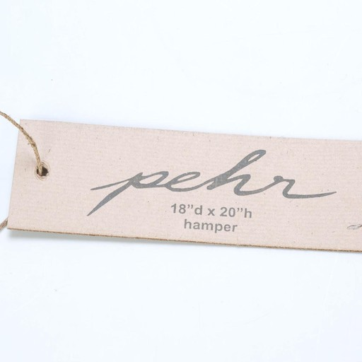 Pehr Grey Pencil Line Hamper