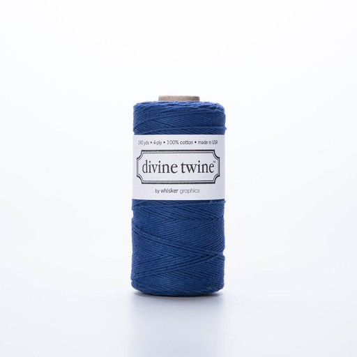 whisker graphics DT RI - solid navy twine