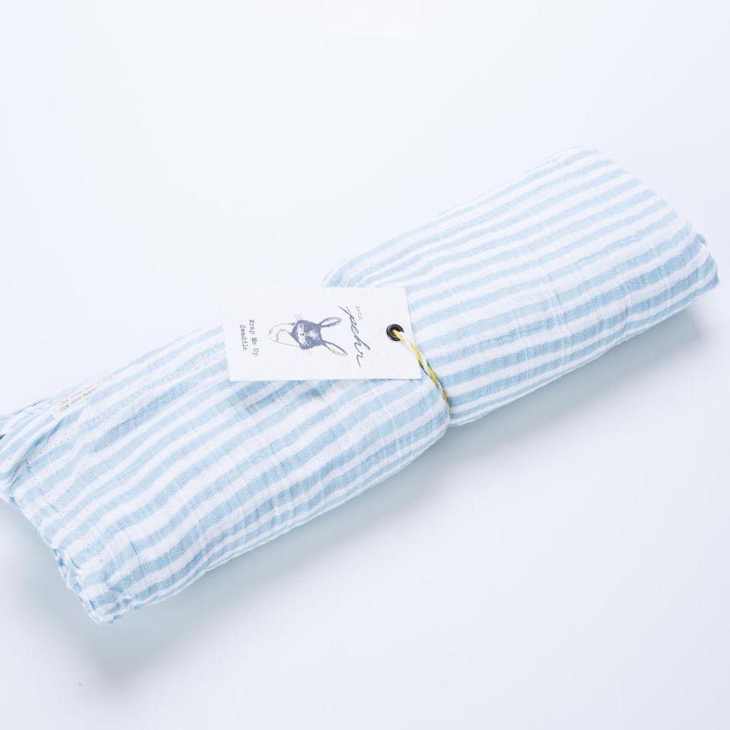 Pehr PE LI - Stripe Swaddle, Light Blue