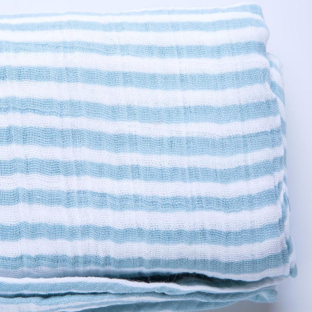 Pehr PE LI - Stripe Swaddle, Light Blue