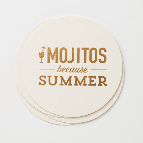 farewell paperie Summer Mojitos Coaster Set