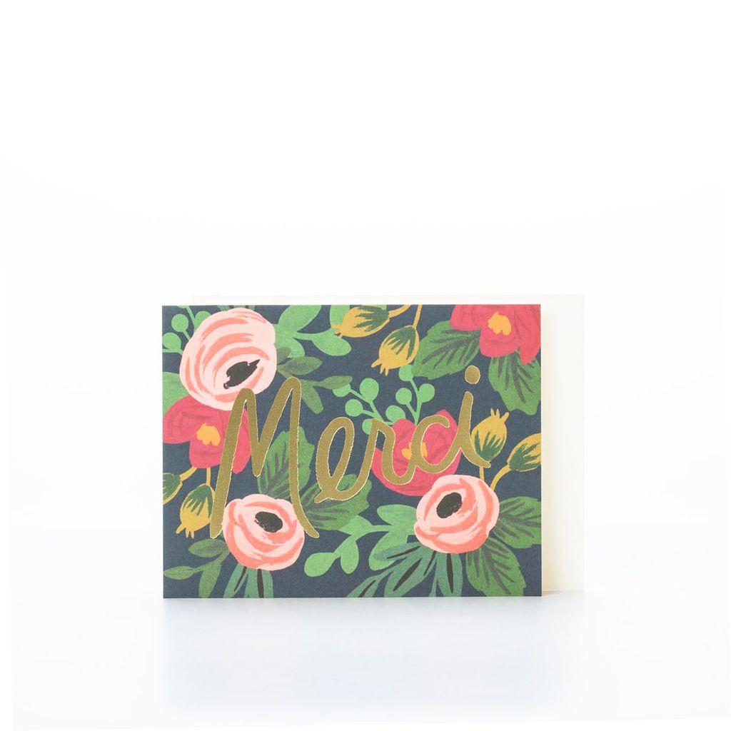 Rifle Paper Co. Rosa Merci Card