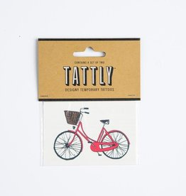 tattly Red Bike Temporary Tattoos
