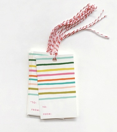 Rifle Paper Co. RP GT - happy stripe gift tags, set of 10
