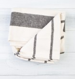 Pehr PE HG - Charcoal Stripe Cotton Flannel Throw Blanket - 50 Inch x 60 Inch