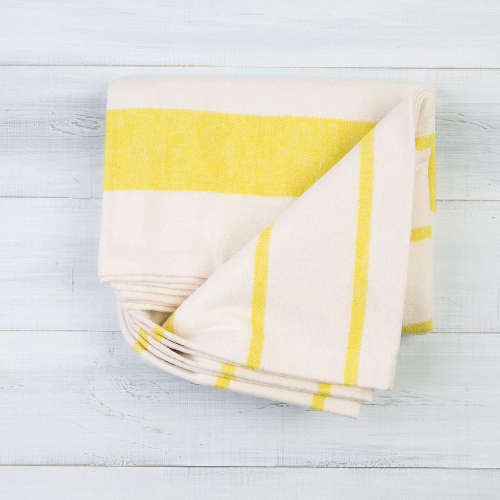 Pehr Citron Cotton Flannel Throw