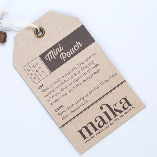 Maika Small Deauville Canvas pouch
