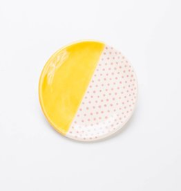 Quiet Clementine Mustard + Pink Ring Dish