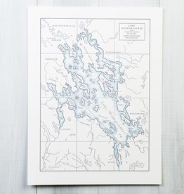 quail lane press Lake Winnipesaukee Letterpress Map